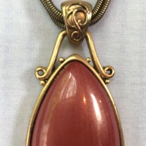 Chico's Jewelry - Chico's coral pink stone statement piece